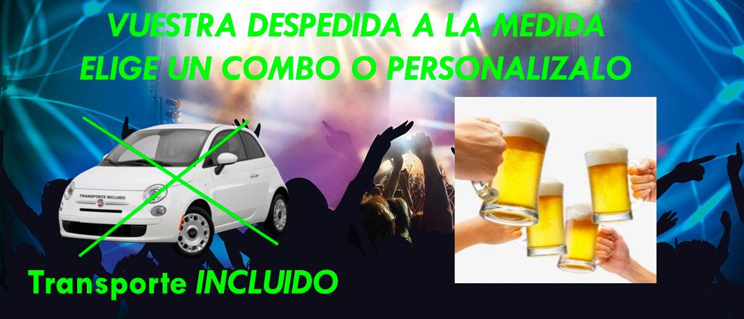 Transporte incluido Combos de despedidas de solltera y Despedidas de soltero en Salamanca